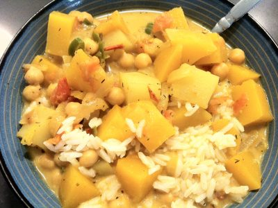 Jamaican Butternut Squash and Chickpea Curry