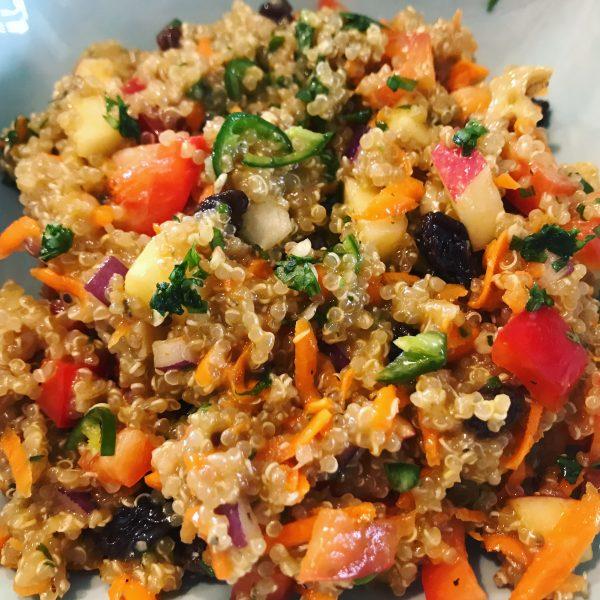 Cumin-Scented Apple Walnut Quinoa Salad