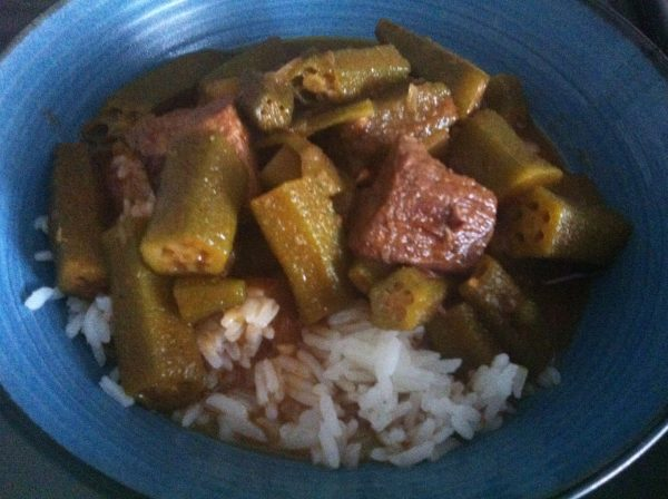 Bamia (Egyptian Beef and okra stew)