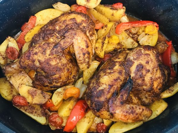 Spicy Harissa Roasted Chicken And Potatoes