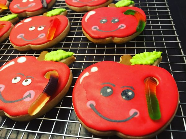 Apple Decorated Sugar Cookies