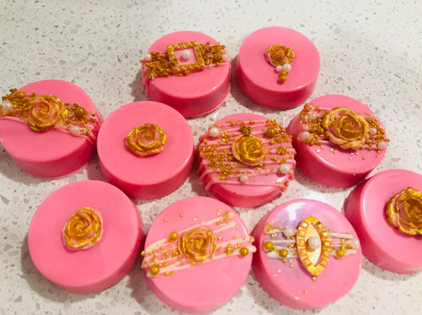 Pink Chocolate Covered Oreos
